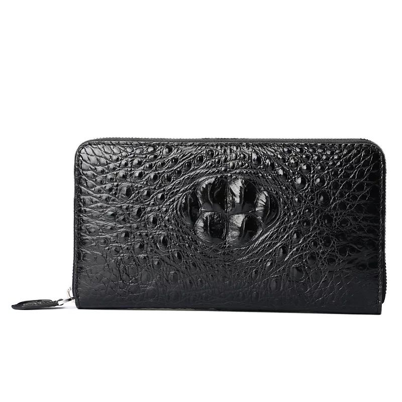 Business Style Genuine Alligator Leather Mens Large Phone Clutch Purse Exotic Crocodile Skin Male Phone Holder Man Card WalletBusiness Style Genuine Alligator Leather Mens Large Phone Clutch Purse Exotic Crocodile Skin Male Phone Holder Man Card Wallet