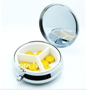 100pcs Metal Pill Boxes DIY Medicine Organizer Container Silver