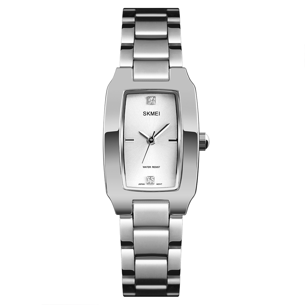 SKMEI Quartz Watch Fashion Thin Watches Ladies Casual Dress Luxury Silver Ladies Rhinestone Waterproof Relogio Feminino 1400SKMEI Quartz Watch Fashion Thin Watches Ladies Casual Dress Luxury Silver Ladies Rhinestone Waterproof Relogio Feminino 1400