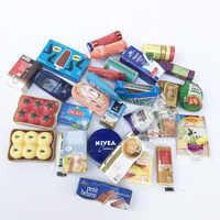 Mini supermercado en miniatura de comida, casa de muñecas, necesidades diarias, juego de cocina comida, casa para muñeca barbie, 10 Uds., 1/6, 1/12