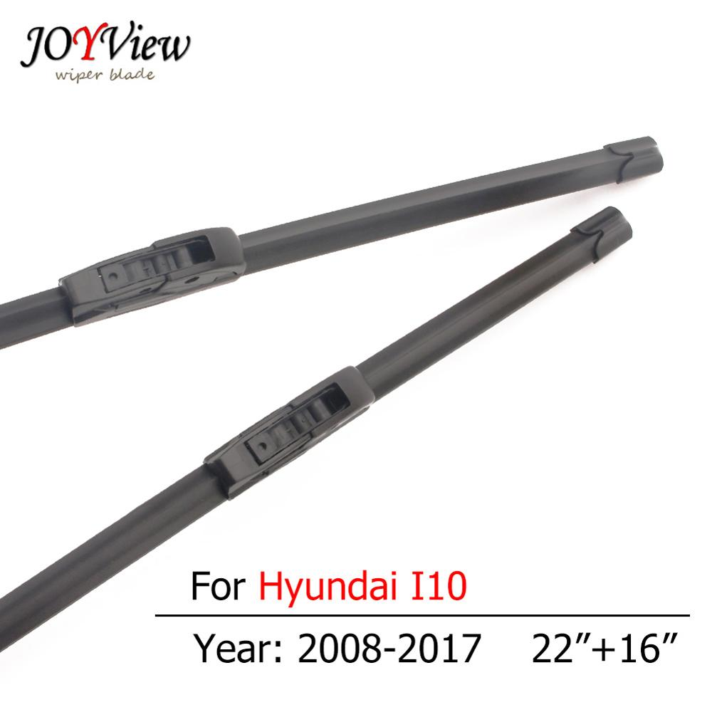 S410 Car Wiper Blades for <font><b>Hyundai</b></font> <font><b>I10</b></font> <font><b>2008</b></font> 2009 2010 2011 2012 2013 2014 2015 2016 2017 Hook Type Front Wipers 22 + 16 inches image