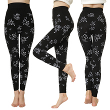 New Womens Stretch Black Leggings High Waist Floral Printed Skinny Pants Fashion Sexy Fitness Plus Size Ladies Workout Legins