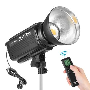 Neewer 150W 5600K Dimmable LED Video Light, RA 93+ 16000LM Continuous Lighting with Bowens Mount, 16 Channel Remote Control