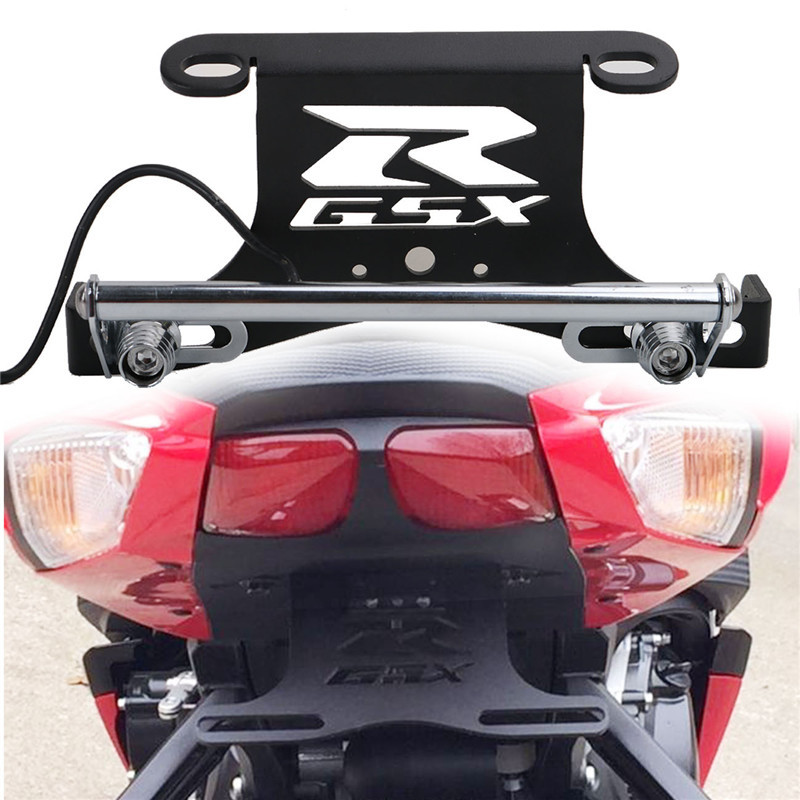 Motorcycle LED Light Fender Eliminator Holder Tail Tidy for Suzuki GSX R 600 750 2006-2010 Motor License Plate Bracket /5 for suzuki gsx r600 k6 2006 2007 fender eliminator tail tidy holder motorcycle license plate bracket for suzuki gsxr750 k6