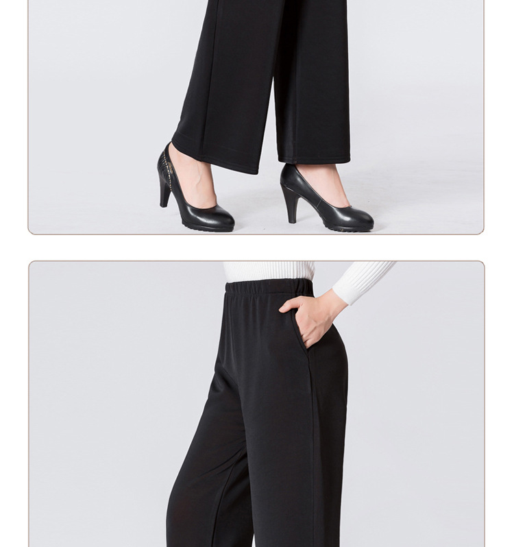 HTB1ig10ajnuK1RkSmFPq6AuzFXa8 - Winter Warm Long Wide Leg Pants Black Plus Size Pants 5xl Womens Hight Elastic Waist Office Ladies Fleece Loose Midi Trousers