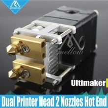 DIY 3D プリンタ Heaterblock Ultimaker 2 + UM2 デュアルヘッド押出機 Olsson ブロックキットノズル 0.25/0.4/0.6 /0.8 ミリメートル HotEnd ため 1.75/3 ミリメートル