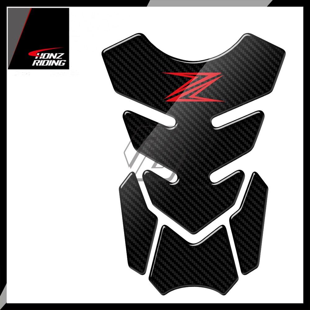 For Kawasaki Z250 Z300 Z650 Z750 Z800 Z900 Z1000 Tankpad 3D Carbon-Look Motorcycle Tank Pad Protector Decal
