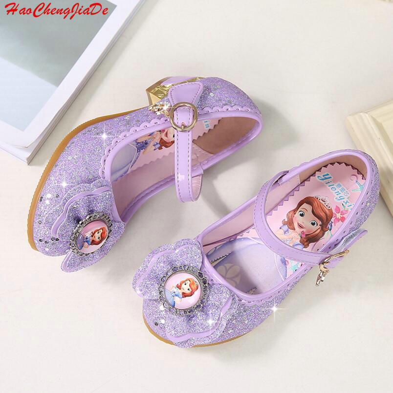Kids Princess Crystal Sandals Girls Casual Shoes Sandals Butterfly Children Shoes Girls Bowtie Sofia Party Dance Sandals 24-36