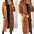 2016 Autumn Winter Fashion Women Full Sleeve Loose Knitting Cardigan Female Casual Solid Long Sweater Jumpers Outwear