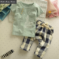 Baby Summer Short Sleeved Set Cotton Children S Clothing Boy Summer Set Children Casual Two Piece
