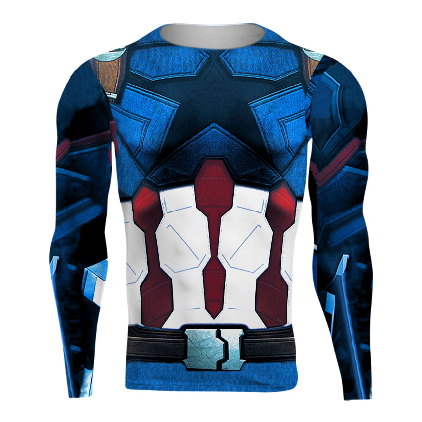 High-quality goods of high quality T-shirt bicycle shirt t-shirts captain America, spider iron, iron man, batman brand T-shirt