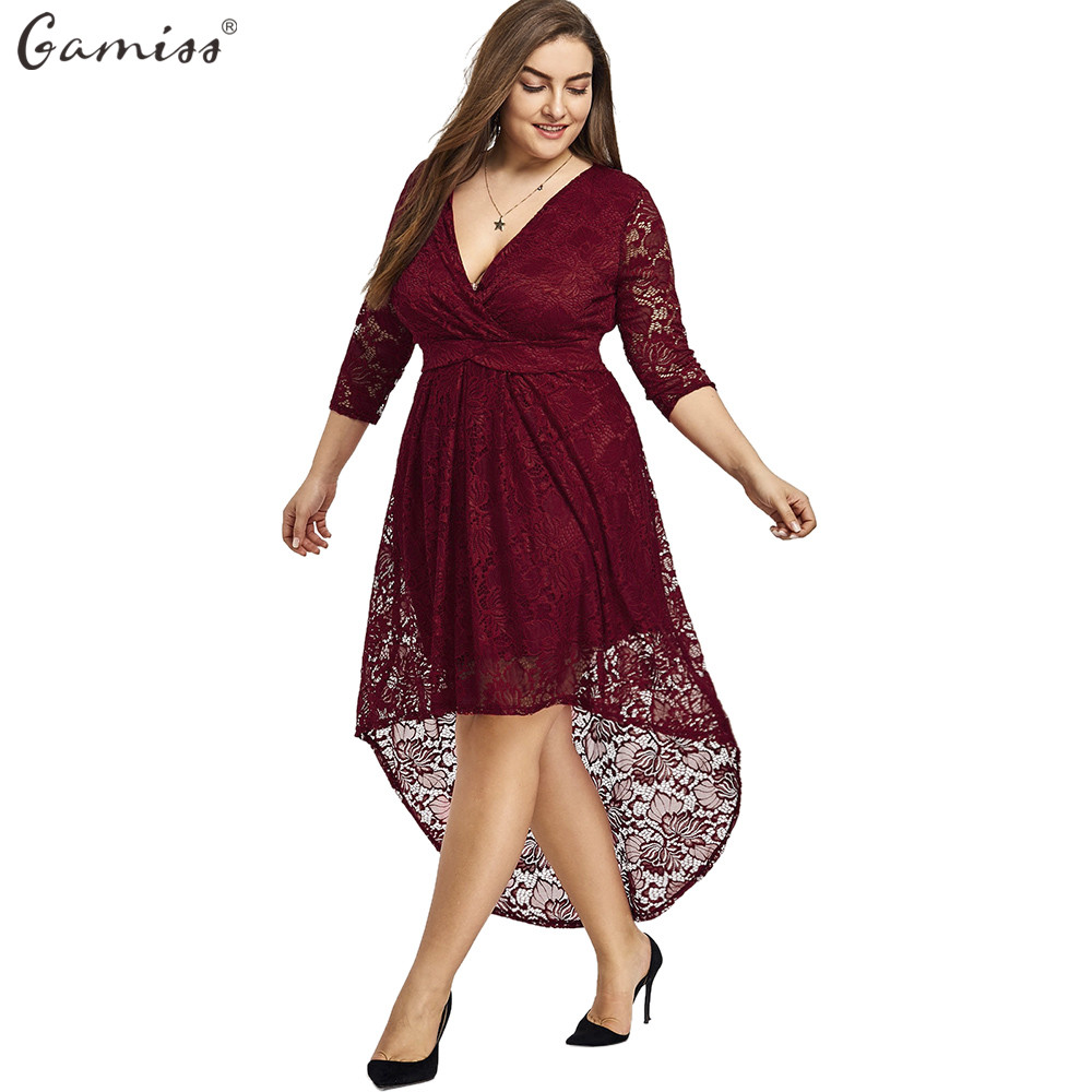 Plus Size High Low Dresses with Sleeves