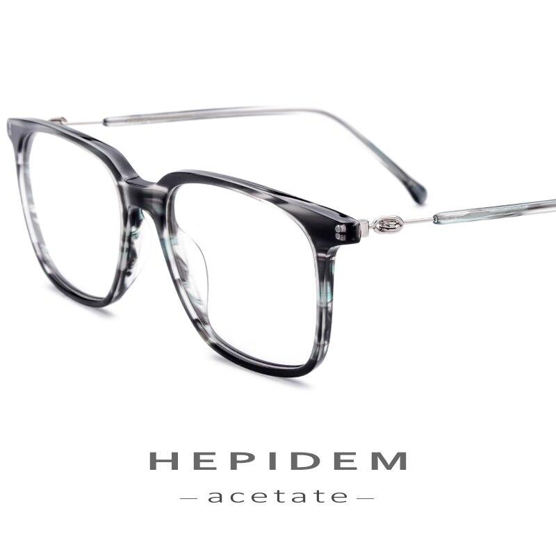 beaa31770 Acetato de Óculos de Armação Homens Mulheres Praça Prescrição Óculos de Miopia  Vintage Frame Ótico Óculos de Nerd Óculos Sem Parafusos