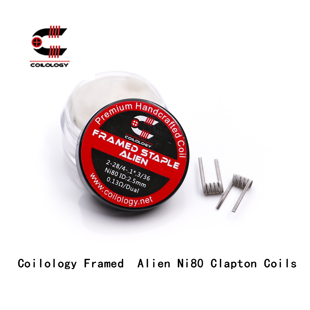 Coilology Framed Alien Ni80 Clapton Coils for RDA Attomizer DIY Metal Wire E-Cigarette Heating Resistance coil