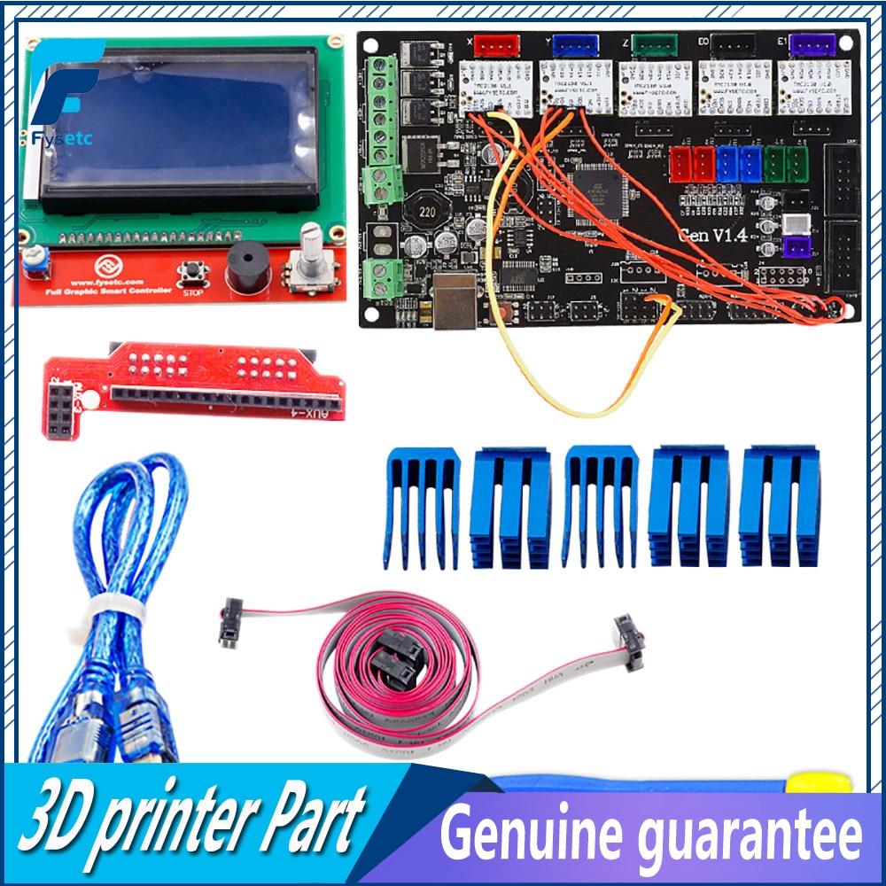 Gen V1.4 Integrated Mainboard + 2pcs TMC2130 V1.1 For SPI Function + 3pcs TMC2130 V1.0 Stepper Driver + 12864 LCD DisplayGen V1.4 Integrated Mainboard + 2pcs TMC2130 V1.1 For SPI Function + 3pcs TMC2130 V1.0 Stepper Driver + 12864 LCD Display
