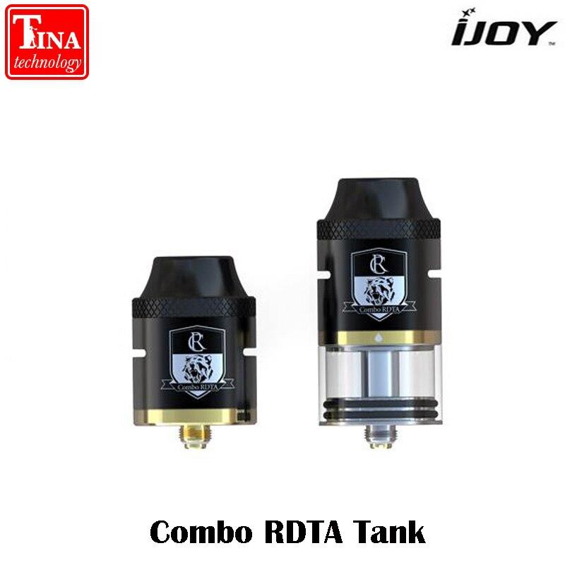 Original iJoy Combo RDTA RDA RTA Sub Ohm Tank 6.5ML Capacity Atomizer Side Filling System with IMC-2 IMC-3 Deck Vaporizer