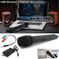 3.5mm Mono Stereo Sound VHF USB Wireless Microphone For Computer Teaching Speaker Voice Amplifier Megaphone Loudspeaker Mike Mic