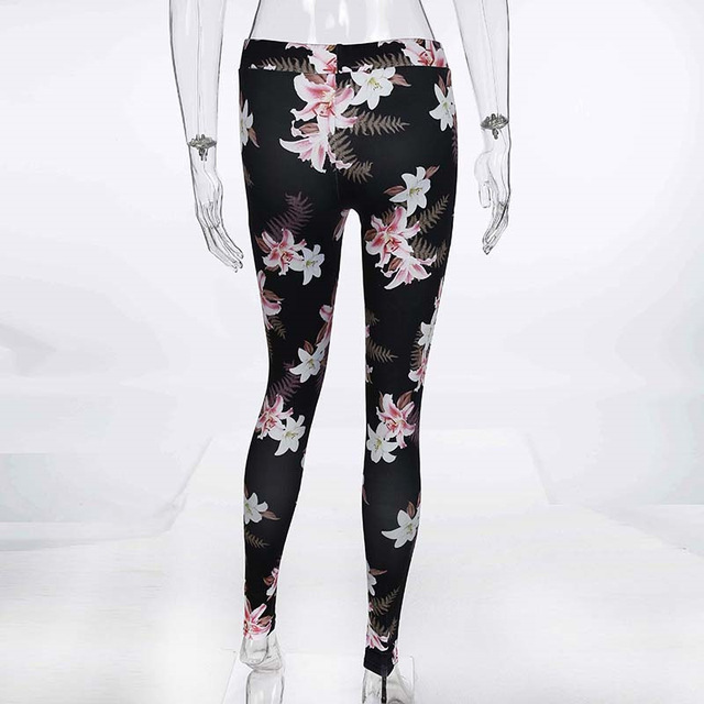 Women's Workout Suit with Floral Prints