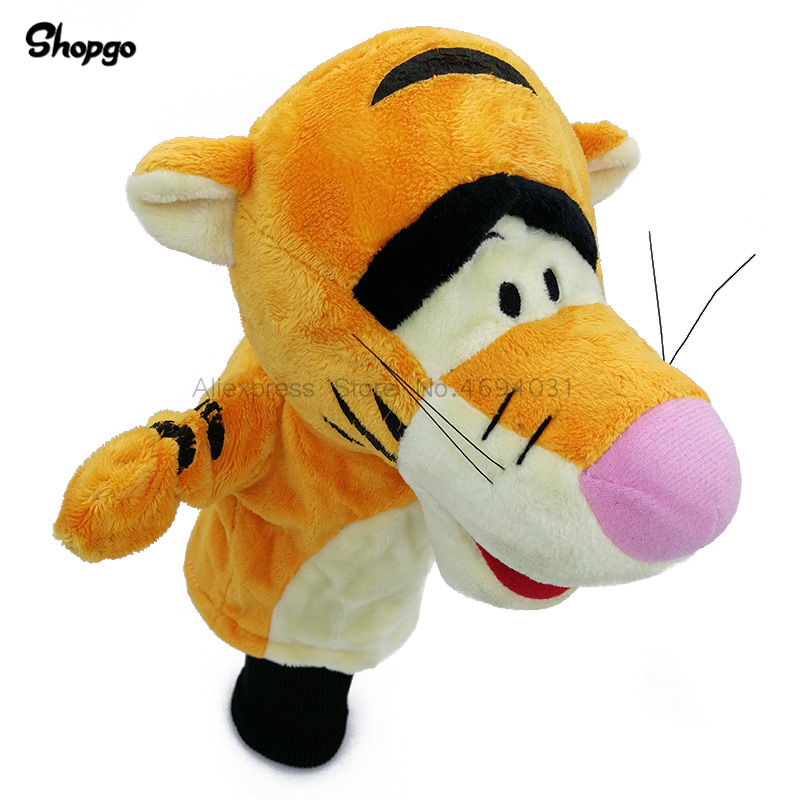 Orange Tiger Golf Head Cover Fairway Woods Golf Cover Sporting Goods Animal Protector Mascot Novelty Cute Gift in Club Heads from Sports Entertainment