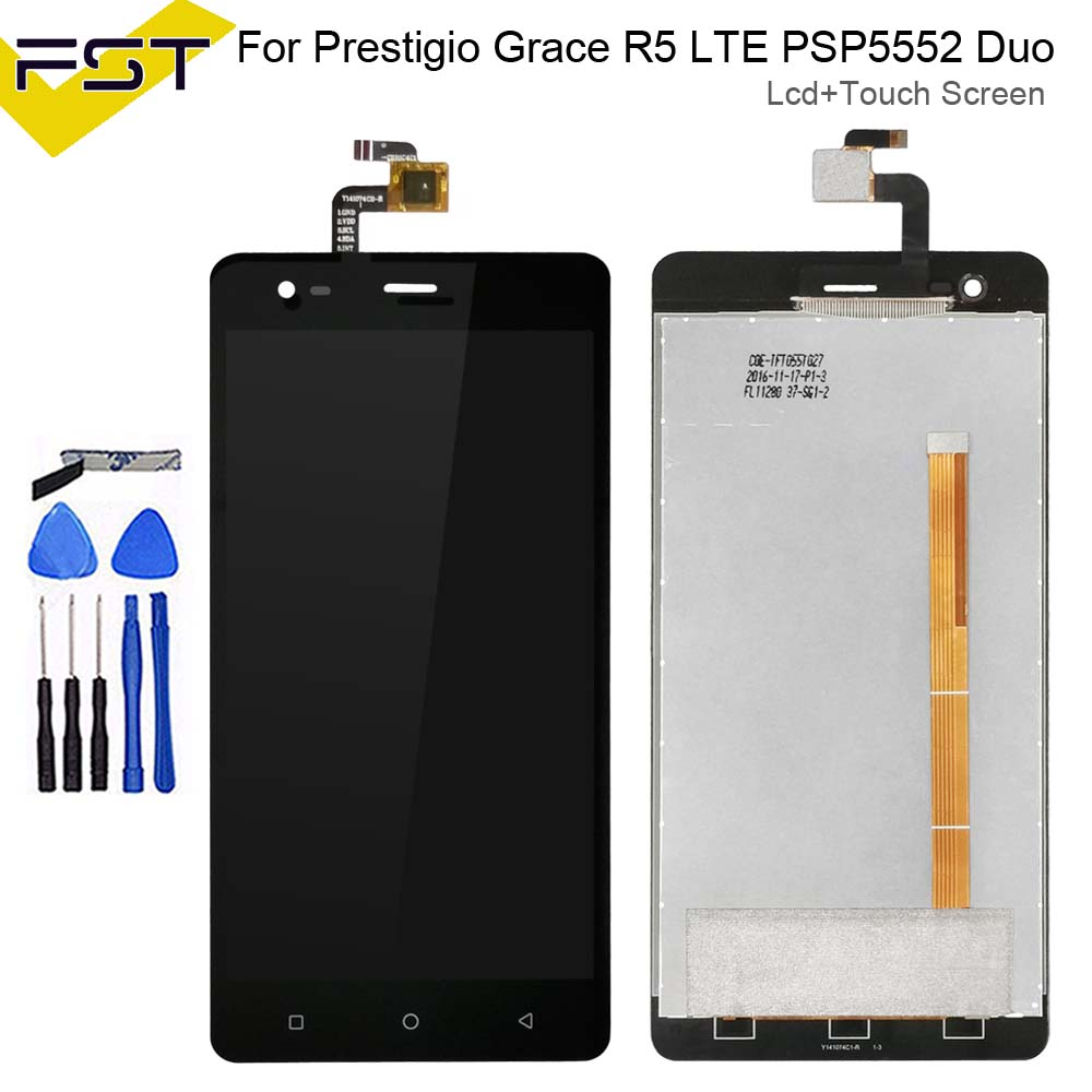 5.5'' For Prestigio Grace R5 LTE <font><b>PSP5552DUO</b></font> PSP 5552 PSP5552 LCD Display+Touch Screen Digitizer Assembly Repair Parts+Tools image