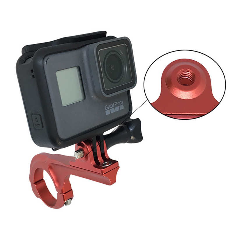 GoPro NEW HERO //HERO7 //6 //5 //5 Session //4 Session //4 //3+ //3 //2 //1 Compatible with DJI New Action Xiaoyi and Other Action Cameras, CNC Aluminum Single Hand Diving Photography Bracket Handheld Holder