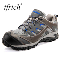 Ifrich New Arrival Men Women Leather Sneakers Outdoor Lace Up Mens Mountaineering Boots Wearable Trekking Hiking