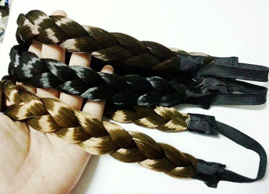 FREE SHIPPING Fashion Bohemian Wigs Braid Thick Wide Headband Popular Fashion Hair Accessories 25cm