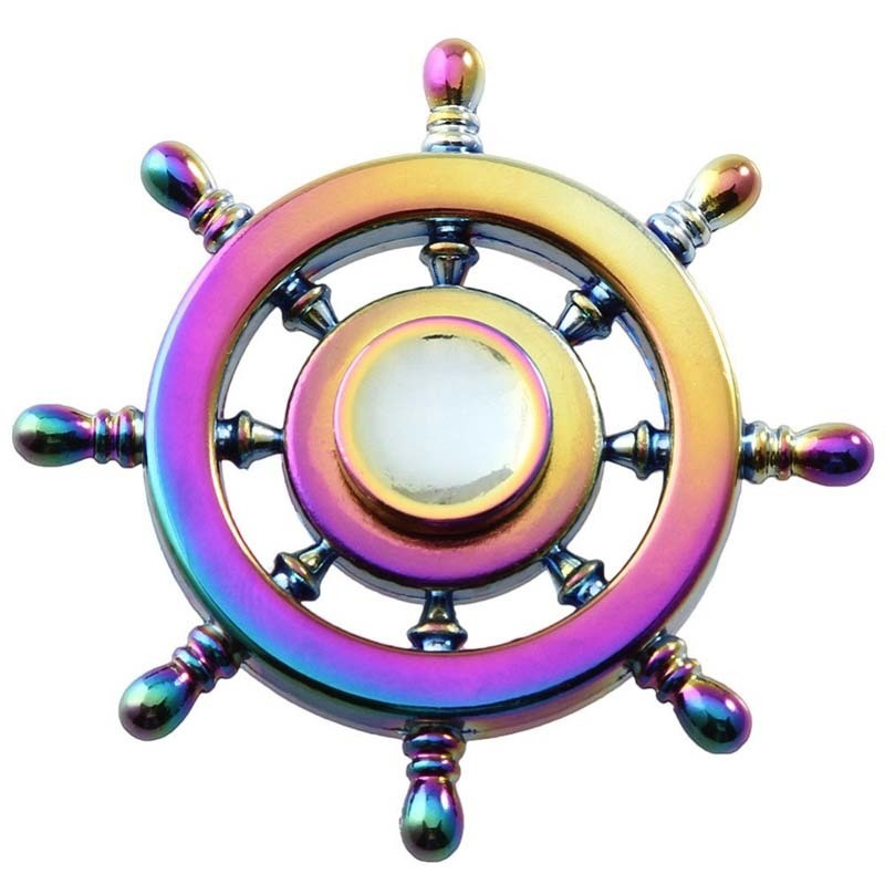 New Styles Rainbow Fidget Spinner Finger Spinner Hand Spinner Brass Spiner With Metal Box Anti Relieve