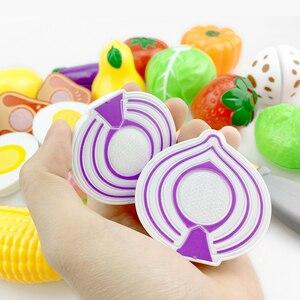 Image 2 - 12 23 шт Детская кухня ролевые игры игрушки для резки фруктов овощей еда миниатюрная игра Do House развивающая игрушка подарок для девочки ребенок