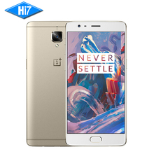 New Original Oneplus 3 6GB RAM 64GB ROM Quad Core 4G LTE Mobile Phone 5.5inch FHD Screen Snapdragon 820 Fingerprint GPS 3000mAh