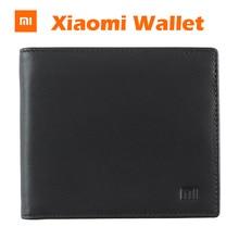 ФОТО  XiaoMi Mi full Griand Leather Purse Man Woman Stylish Leather Card Clutch Cente Bifold Purse Pocket Money
