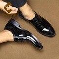 32979828815 - Sipriks lujo hombres charol vestido zapatos Vintage marrón Borgoña Brogue Zapatos negro brillante caballeros traje Social vestido Oxfords