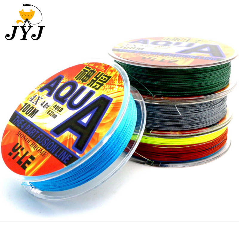 4 Strands Braided Fishing Line 100m Super Strong Wire Multifilament Material New