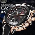Мужские часы LIGE  новые роскошные брендовые модные спортивные мужские часы  водонепроницаемые кожаные кварцевые наручные часы  мужские Relogio ...