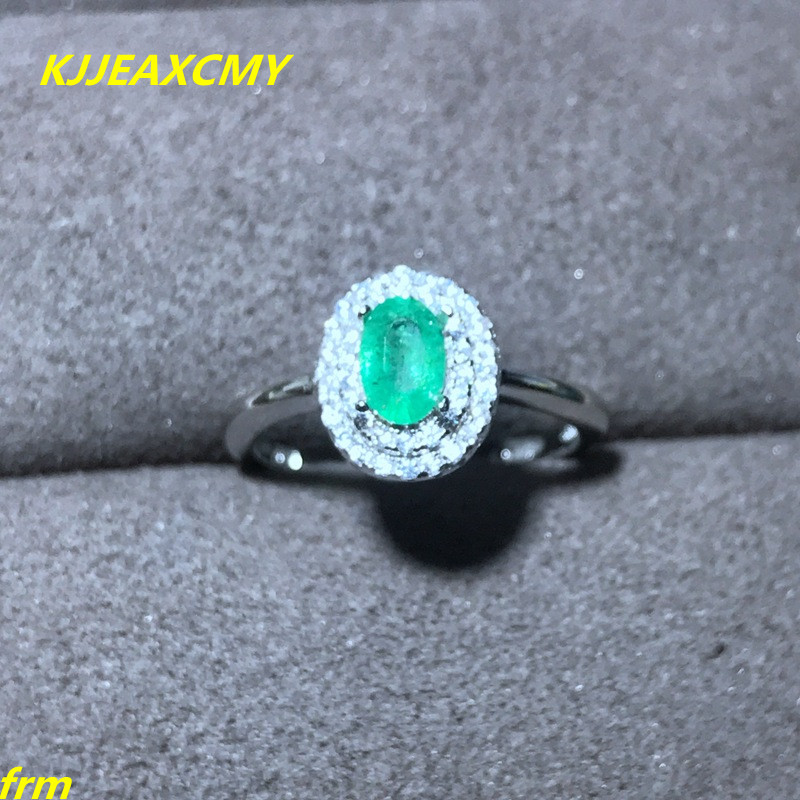 KJJEAXCMY Fine jewelry Natural emerald female RING 925 Sterling Silver Mosaic to support any identification недорго, оригинальная цена