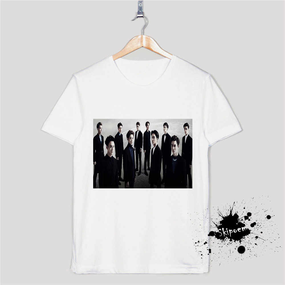 Detail Feedback Questions About New 100 Cotton Women Tshirt Exo
