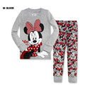 Easter Gift Cotton Spring Cartoon Girl Minnie Mickey Clothing Set Long Sleeve Home Wear Casual Pajamas Tracksuit Sport Suit