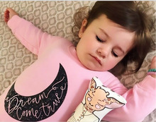 Long Sleeve Moon Printing Jumpsuit for Baby Girls