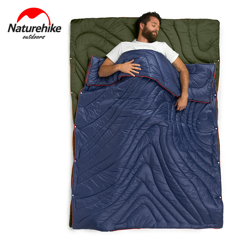 Naturehike Multifunction Portable Ultralight Outdoor Camping Travel 3 In 1 Envelope Cotton Sleeping Bag Blanket Quilt For Car цена