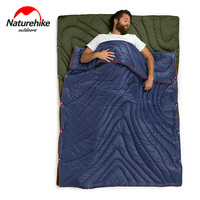 Naturehike Multifunction Portable Ultralight Outdoor Camping Travel 3 In 1 Envelope Cotton Sleeping Bag Blanket Quilt For Car