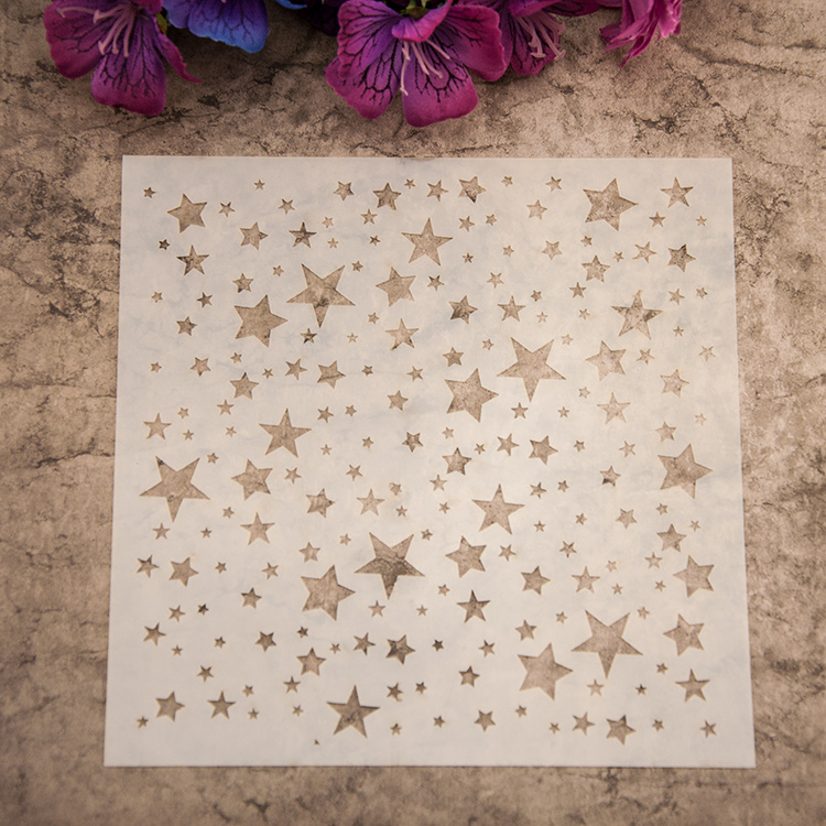 Scrapbooking Little Star Plastic Painting Drawing Color Spray