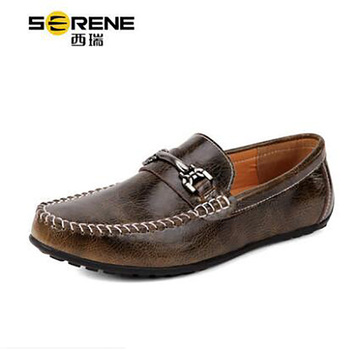 Men's Beanie shoes Summer New Casual Loafers Soft England Retro Brown Classic Shoes Size7-13 Summer Autumn Spring Stylish Shoes
