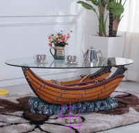 Ship Small Family Style Tea Table Oval Round Tea Table Contracted Character Of Tea Table