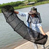 Sougayilang High Quality Super Strong 5 Layers Fishing Net PE Material Black Color Drive In Net