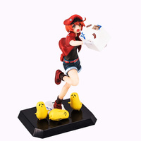 Action Figure Anime Statue Shimizu Akane Working Cells Model Red Blood Cell Dolls Decoration Collection Figurine NO00