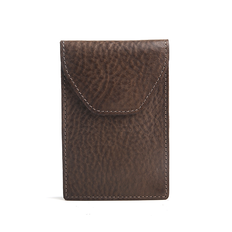 Hiram Beron Leather Business Card Holder Men Vegetable Tanned ...