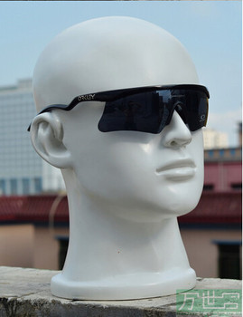Free Shipping!!New Good Looking Fiberglass Male Fiberglass Head Mannequin Head Fashion Show Glass and Earphone