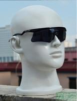 Free Shipping!!New Good Looking Fiberglass Male Fiberglass Head Mannequin Head Fashion Show Glass and Earphone
