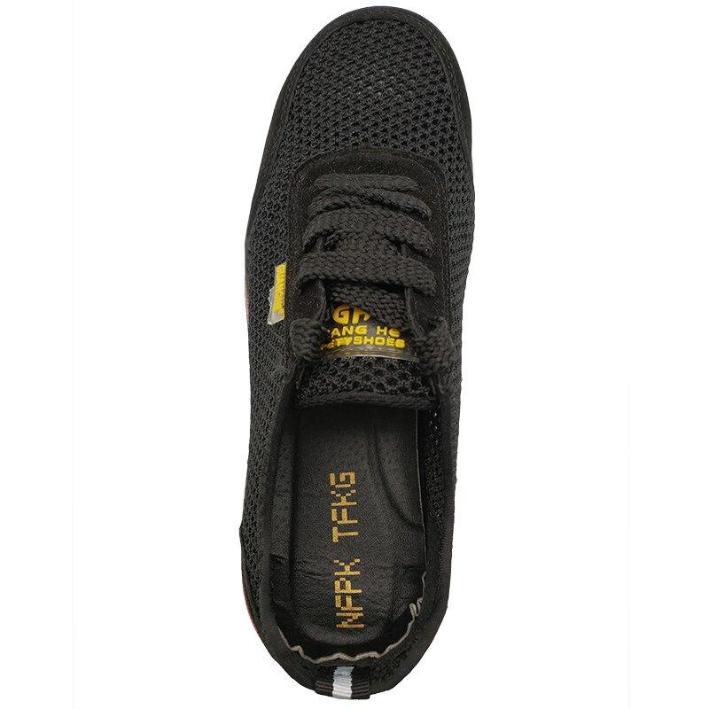 Botas Aço Sapatos Casual Comfort Calçados Biqueira Oco Vestido De Respirável Proteger Segurança Trabalhador Mens Malha Trabalho Verão 064qq