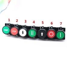 Мгновенный кнопочный переключатель 22 мм кнопка start stop с символом стрелки XB2 Плоская Сенсорная кнопка переключения